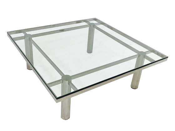 #2836 Tobia Scarpa for Knoll Square Chrome Coffee Table