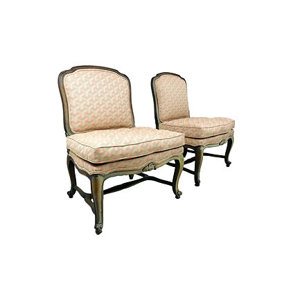 #5295 Pair of French Slipper Chairs