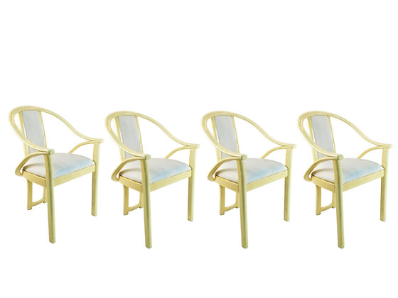 #2012 Set of 4 Lacquered Dining Chairs