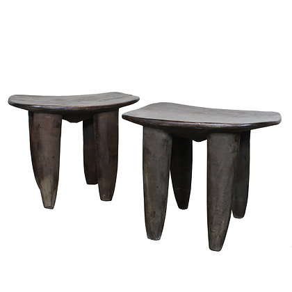 #7320 Pair African Stools