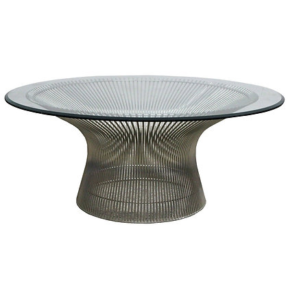 #8372 Warren Platner Nickel Coffee Table