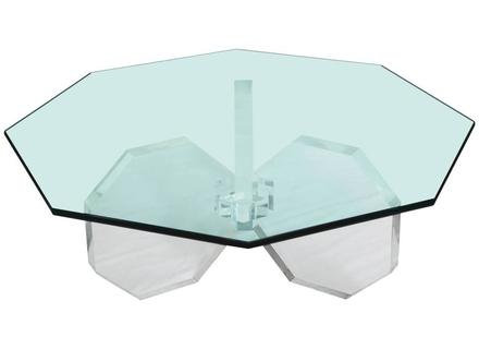 #3367 Thick Lucite Octagonal Shaped Coffee Table Base