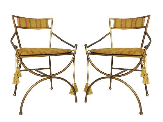 #2450 Pair Regency Armchairs with Tassels