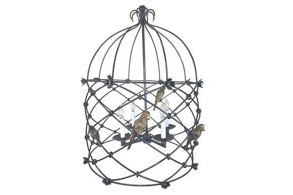 #1638 Sarreid Lantern With Birds