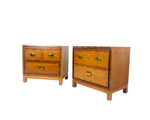 #5619 Pair of Hickory Nightstands