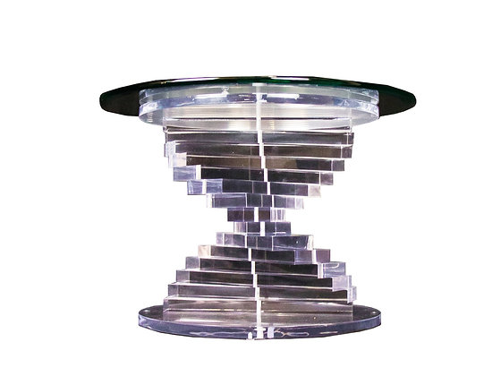#3326 Stacked Spiral Lucite Side Table