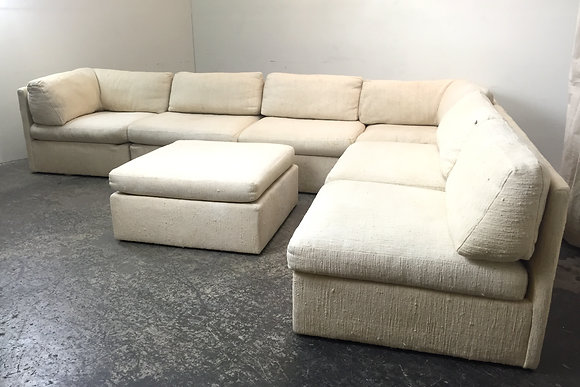#1392 Milo Baughman Sectional Sofa & Ottoman