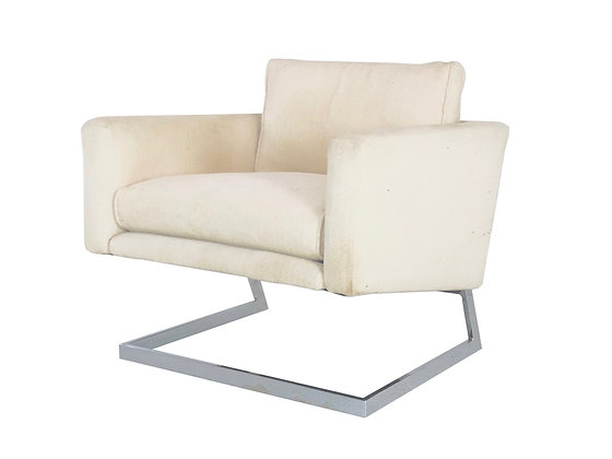 #3806 Cantilever Chrome Lounge Chair