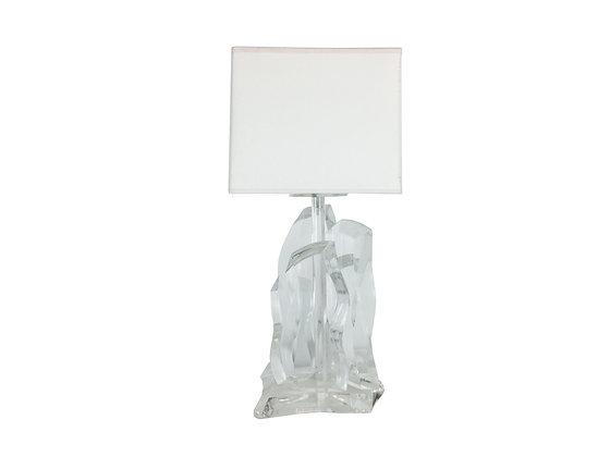 #2262 Single Lucite Ice  Lamp