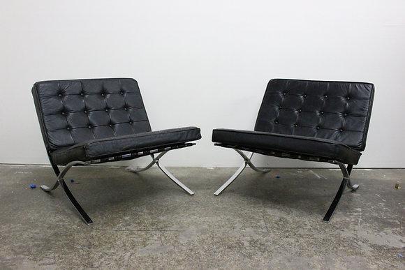#8352 Pair Barcelona Chairs