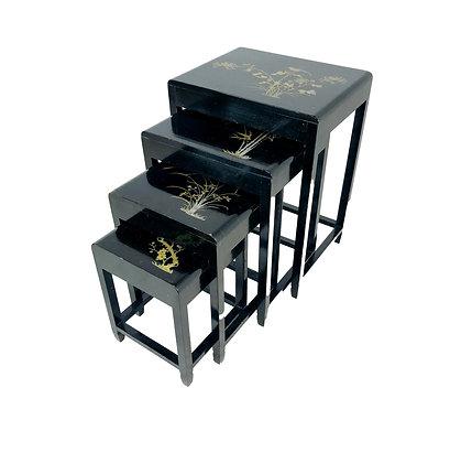 #5252 Vintage Inlaid Nesting Tables