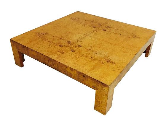 #2642 Monumental Milo Baughman Burl Coffee Table