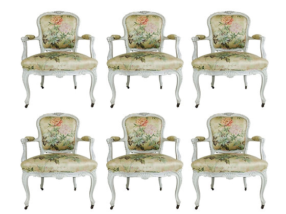 #2617 Pair French Armchairs in Floral Print ( 3 pair available)
