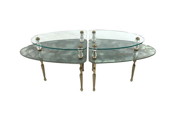 #4898 2 Piece Mirrored Coffee Table
