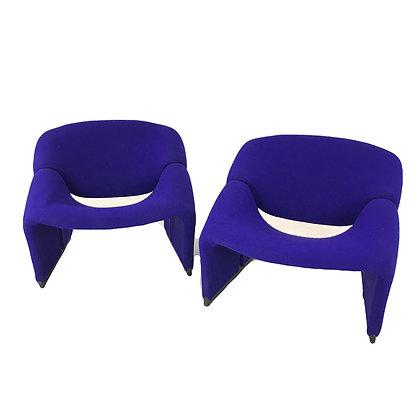 #4867 Pair Pierre Paulin 1970s Groovy Chairs
