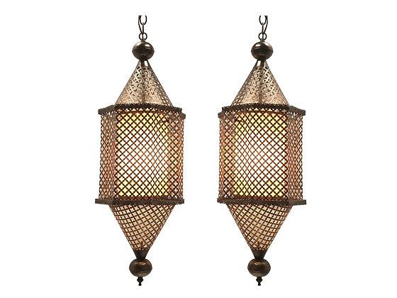 #3905 Pair Pierced Brass Moroccan Pendants