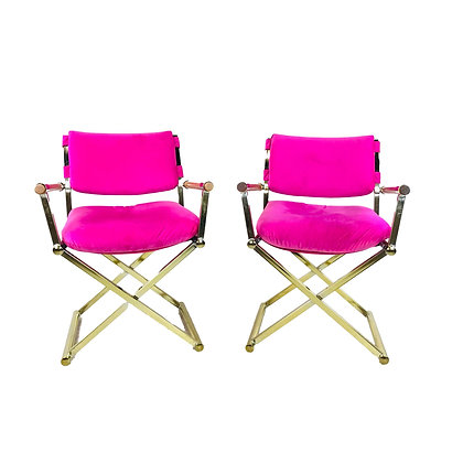 #5390 Pair of Hot Pink Director's Chairs