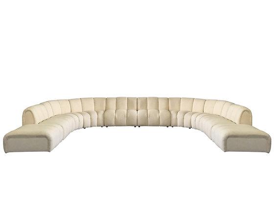 Monumental 10Pc Channel Sofa