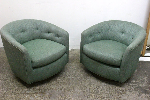 #1145 Pair Swivel Chairs in the Style of Milo B.