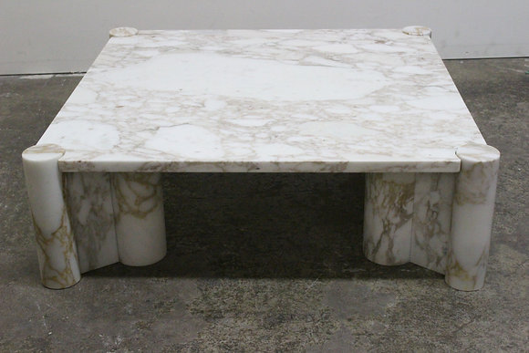 """#803 Marble """"Jumbo Table"""" by Gae Aulenti for Knoll"""