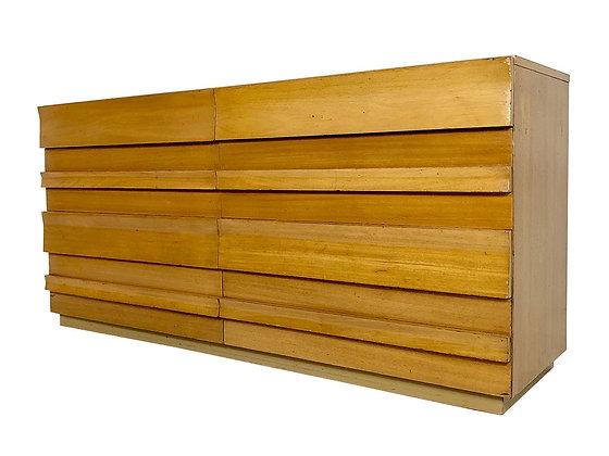 #4112 MCM Slat Front Dresser