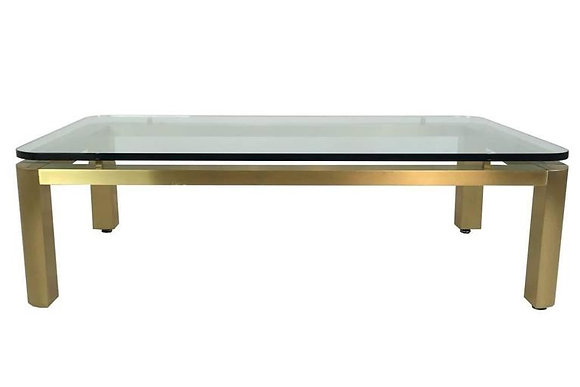 #1802 Brushed 1970s Brass Coffee Table by Pace