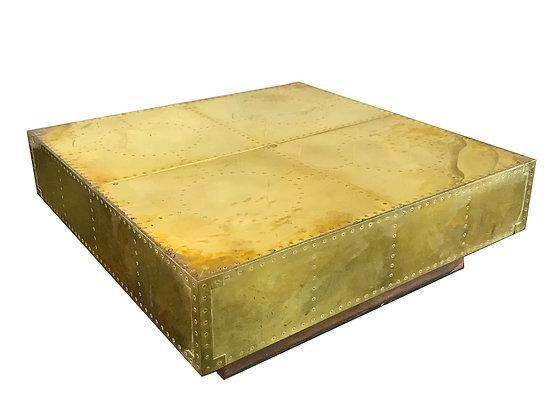 #2985 Sarreid Brass Coffee Table