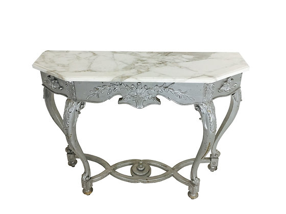 #2633 Marble Entry Console Table