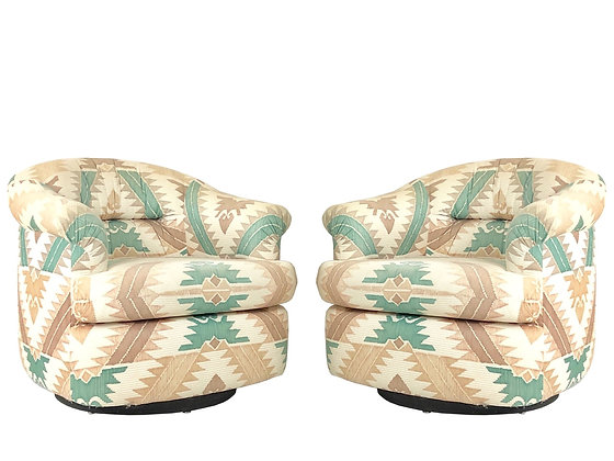 #1671 Pair of Swivel Chairs by Preview