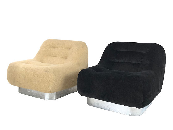 #4054 Pair of Designer Modern Slipper Chairs
