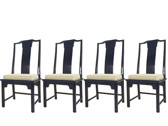 #3541 Set of 4 Tall Back Asian Ming Style Chairs