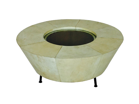 #2677 Round Parchment Coffee Table