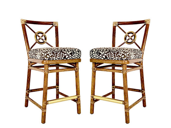 #4092 Pair of McGuire Bar Stools