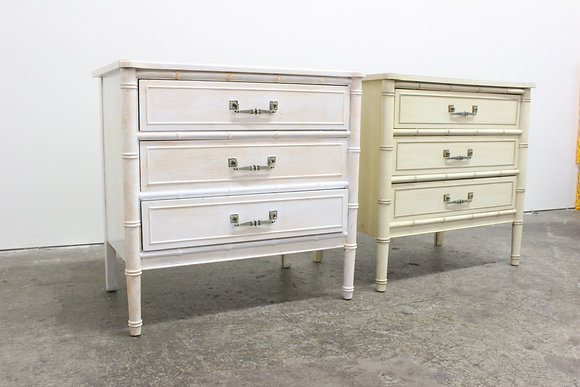 #8628 Pair Faux Bamboo Nightstands