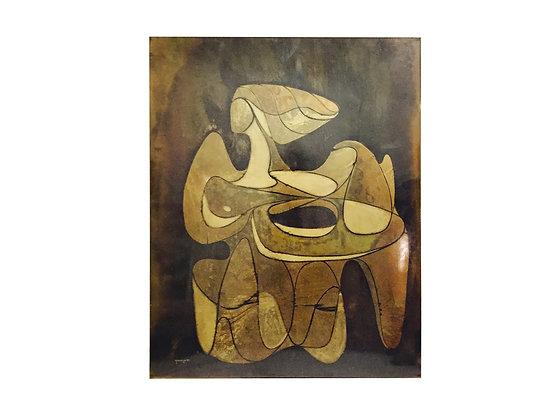 #1710 Silvio Giovenetti Acid Etched Metal Art
