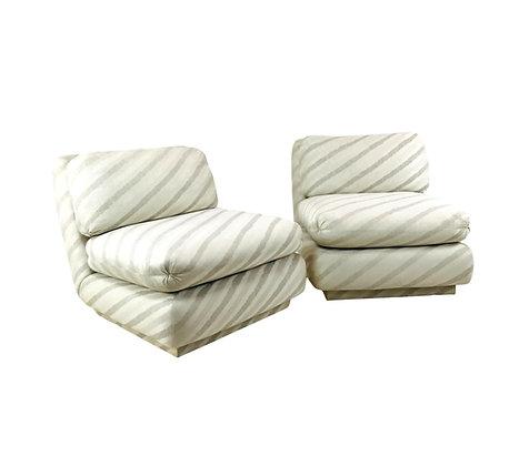 #5207 Pair Marge Carson Slipper Chairs