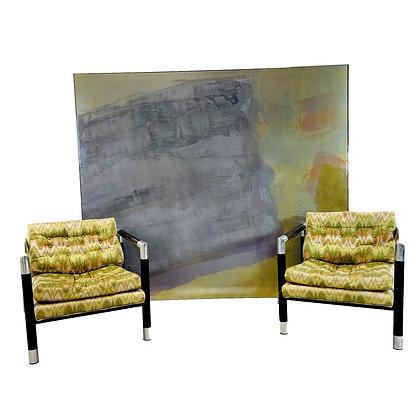 #5433 Large Purple/Green/Gray Art