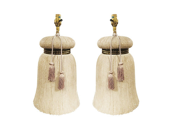 #669 Pr Tassel Lamps by Chapman