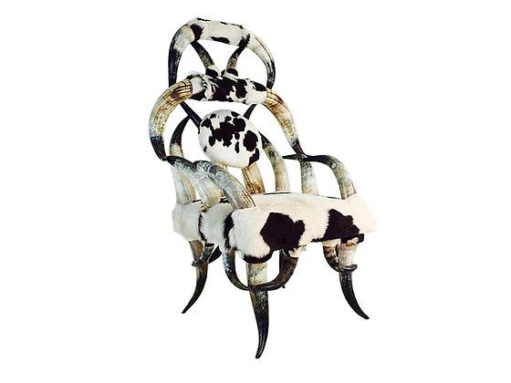 #1654 Vintage Horn Chair