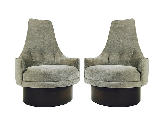#1738 Pr Newly Upholstered Adrian Pearsall Chairs