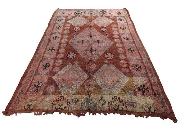 #4525 Vintage Moroccan Boujad Rug