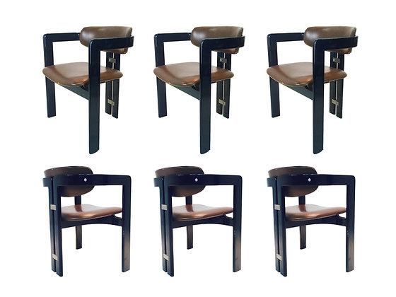 """#2013 Set of 6 """"Pamplona"""" Chairs by Savini Pozzi"""