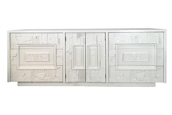 #1624 Lacquered Brutalist MCM Dresser