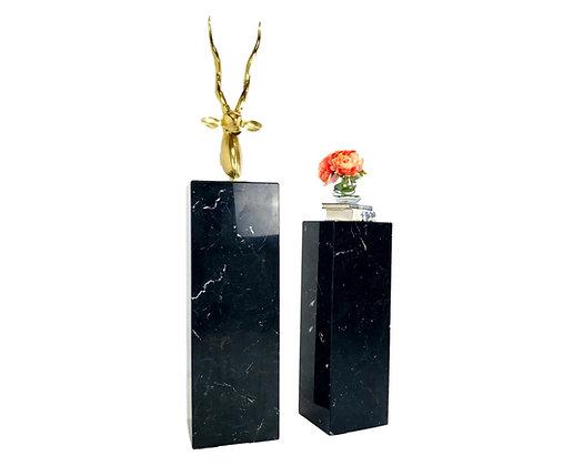 #5697 Pair of Black Marble Pedestals