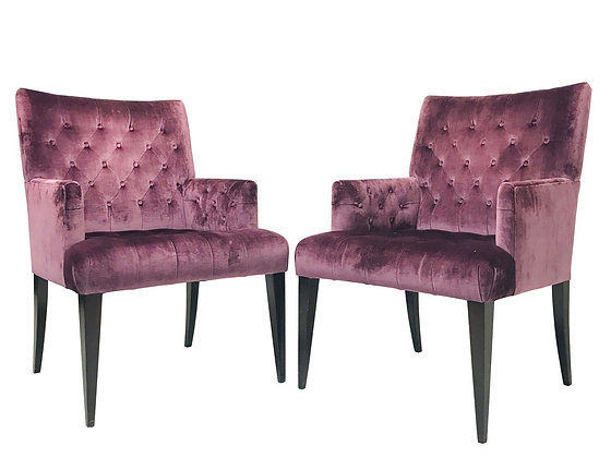 #4043 Pair of Purple Velvet Armchairs