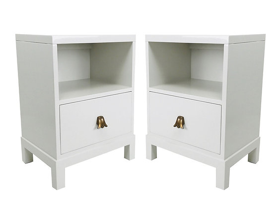 #940 Pair Lacquered Nightstands by Widdicomb