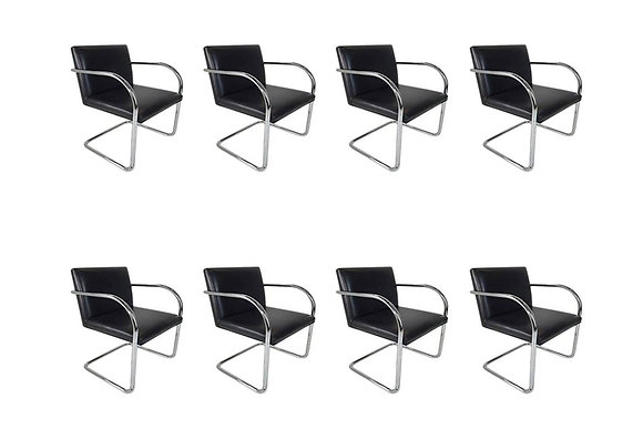 #1570 Set of 8 BRNO Cantilever Chairs