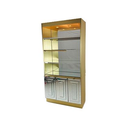 #4895 Mirror/Brass Ello Cabinet
