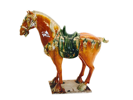 #4225 70s Ming Glazed Horse