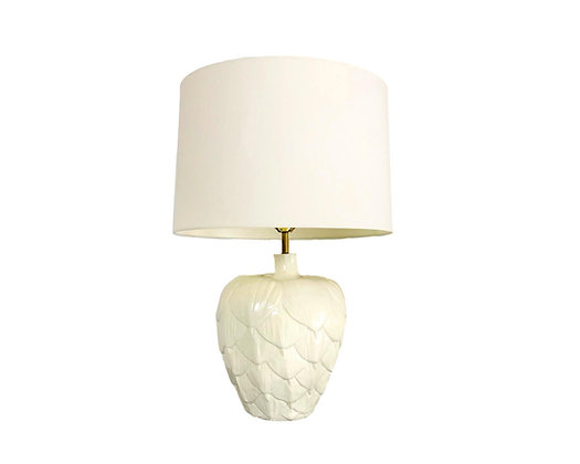 #5470 White Ceramic Table Lamp
